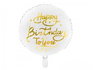 Balon foliowy okrągły Happy Birthday To You, 35 cm