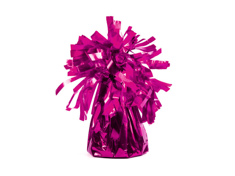 Ciężarek do balonów foliowy ciemny róż