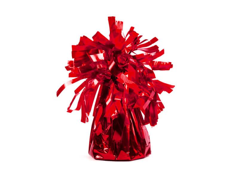 Ciężarek do balonów foliowy czerwony