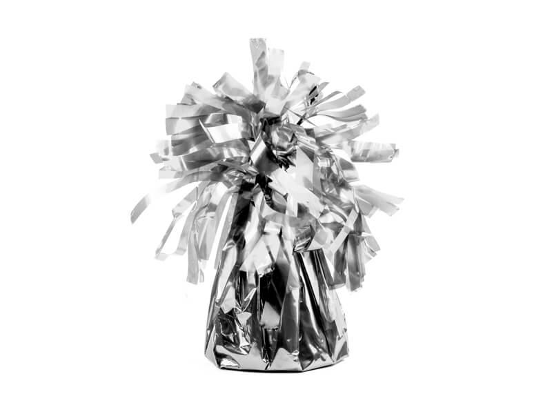Ciężarek do balonów foliowy srebrny
