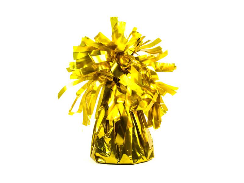 Ciężarek do balonów foliowy złoty