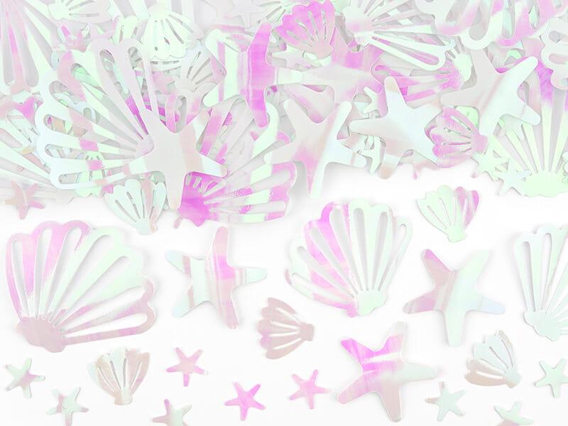 Konfetti opalizujące muszelki rozgwiazdy 23 g