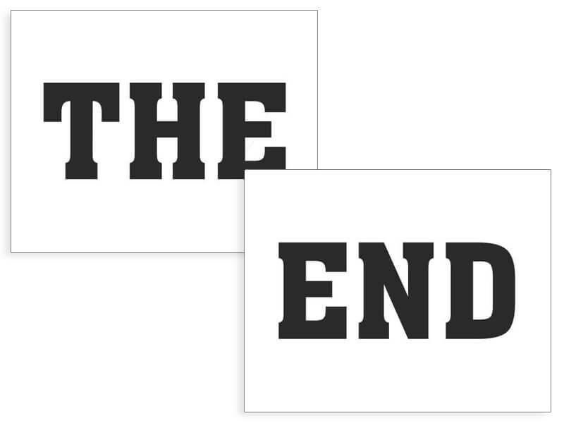 Image of Naklejki na buty THE END