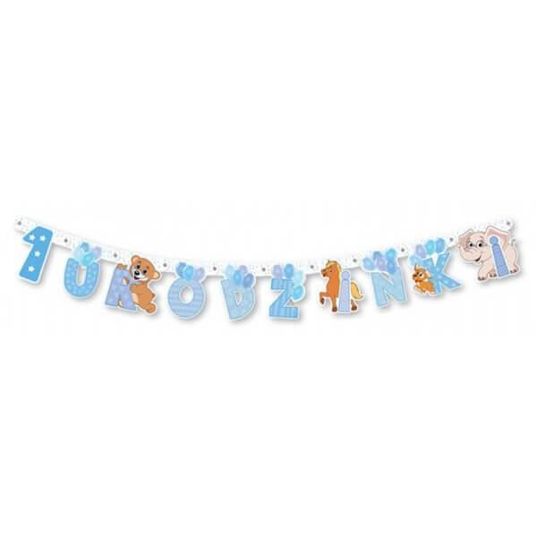 Baner 1 urodzinki niebieski