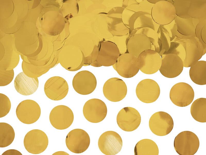 Konfetti kółka złote, 15 g