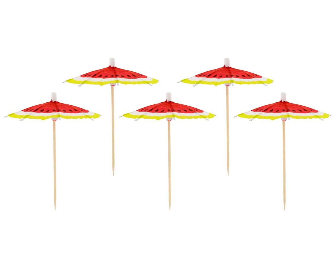 Parasolki do drinków pikery arbuz