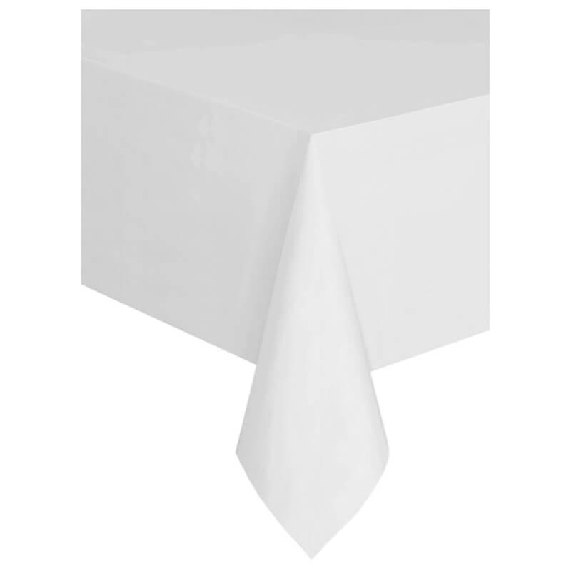 Obrus foliowy biały, 137 x 274 cm