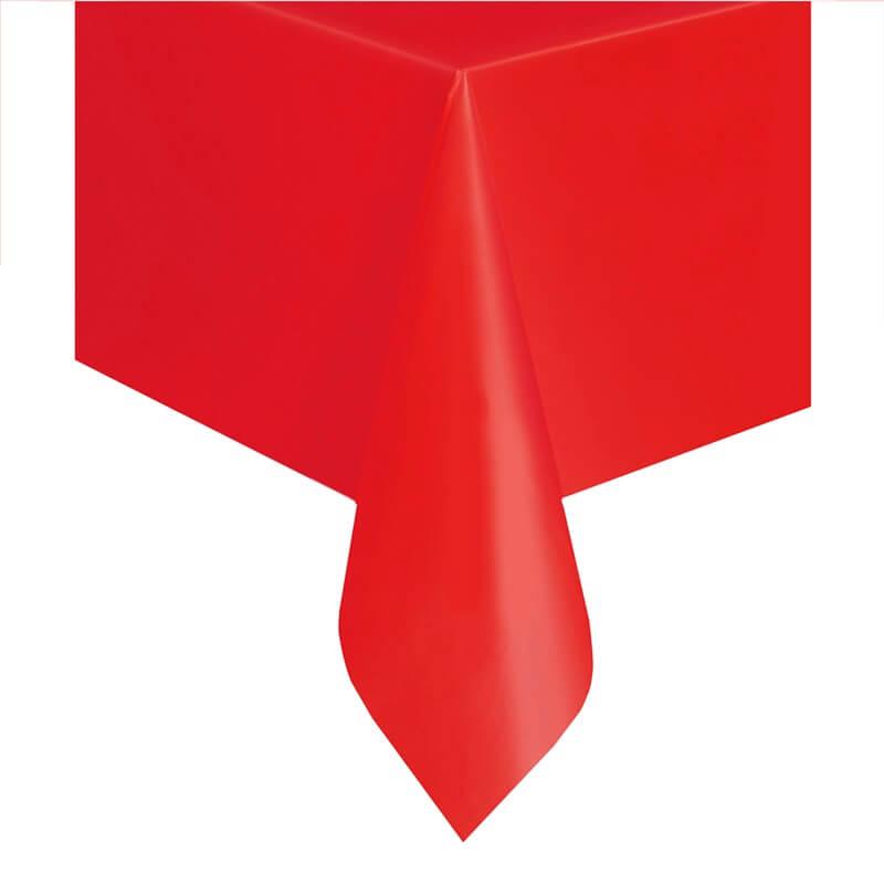 Obrus foliowy czerwony, 137 x 274 cm