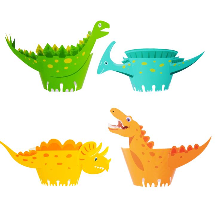 Image of Papilotki do babeczek dinozaury, 8 szt.