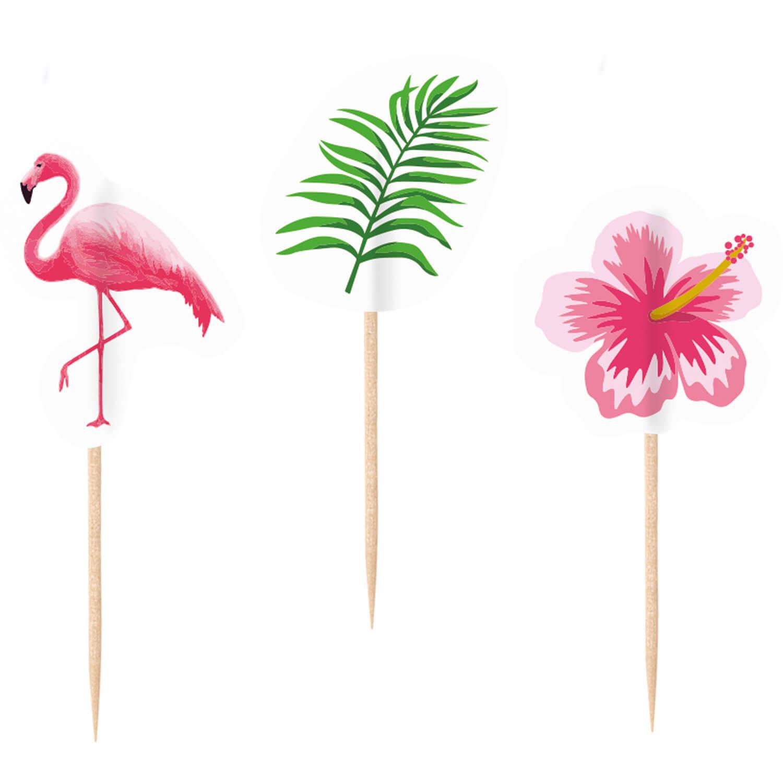 Image of Hawajskie pikery flamingi, 20 szt.