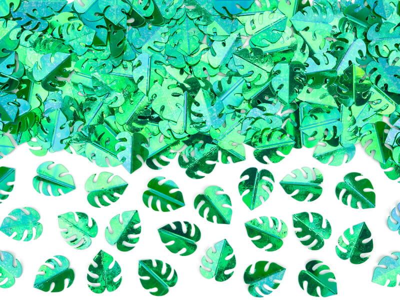 Konfetti zielone liście monstery metalizowane 15 g